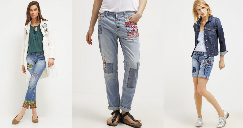 desigual jeansy