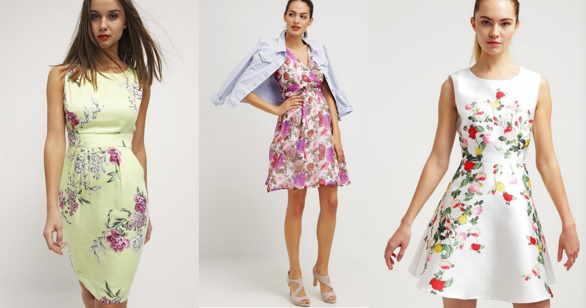 sukienki na lato kwiaty