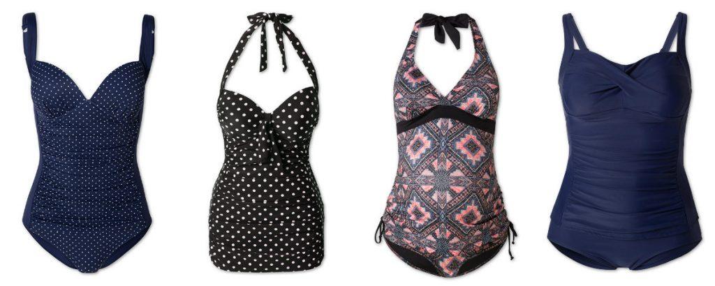 Kostiumy kąpielowe jednoczęściowe w kolekcji C&M (fot. http://www.c-and-a.com/)