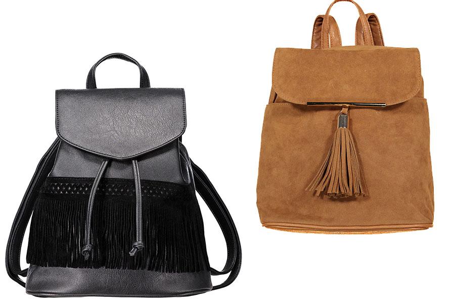 Plecaki damskie z frędzlami New Yorker
