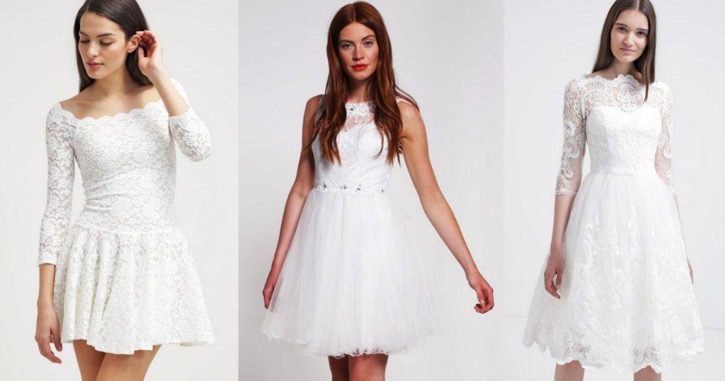 krótkie suknie ślubne przegląd