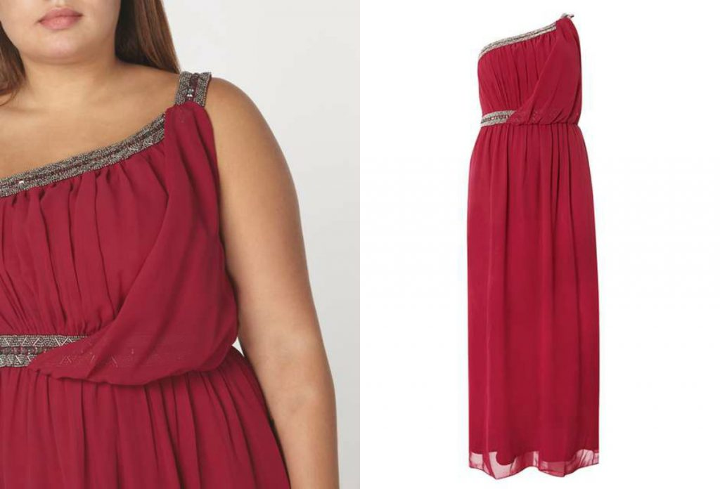 Little Mistress Curve Embellished Berry Maxi Dress (dorothyperkins.com)