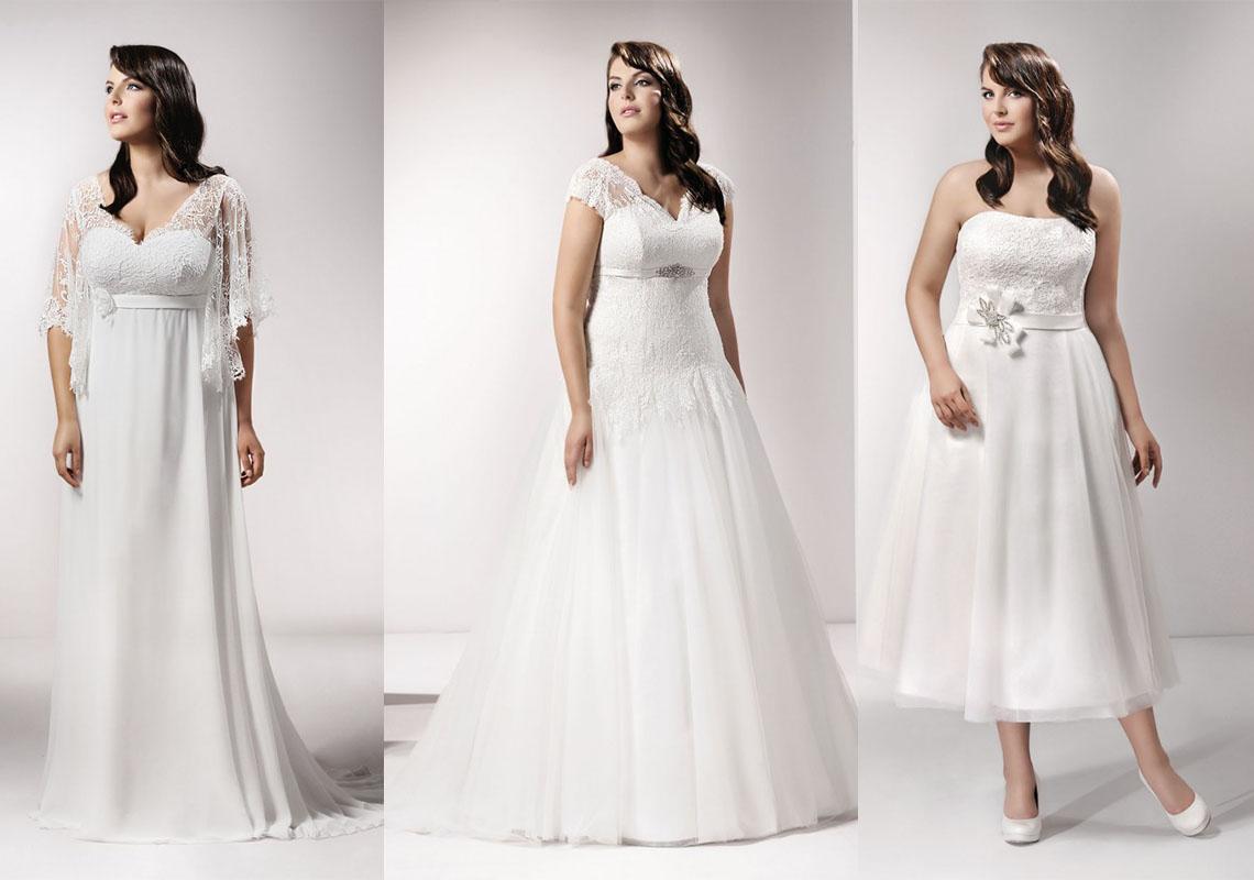 Suknie ślubne dla puszystych: trendy (fot. agnesfashiongroup.pl)