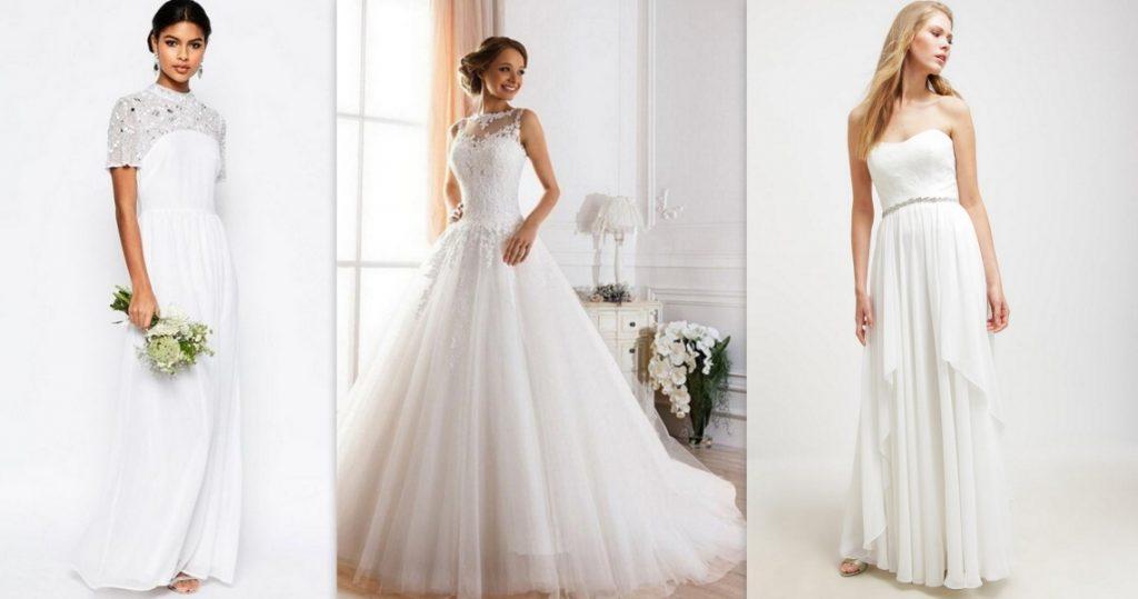 tanie suknie ślubne długie