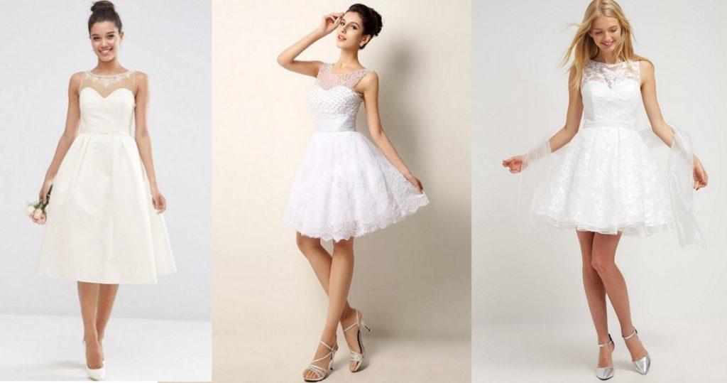 tanie suknie ślubne krótkie