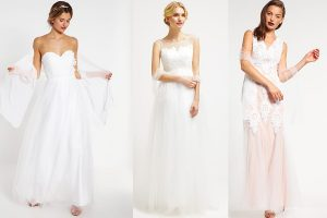 Tiulowe suknie ślubne (fot. zalando)
