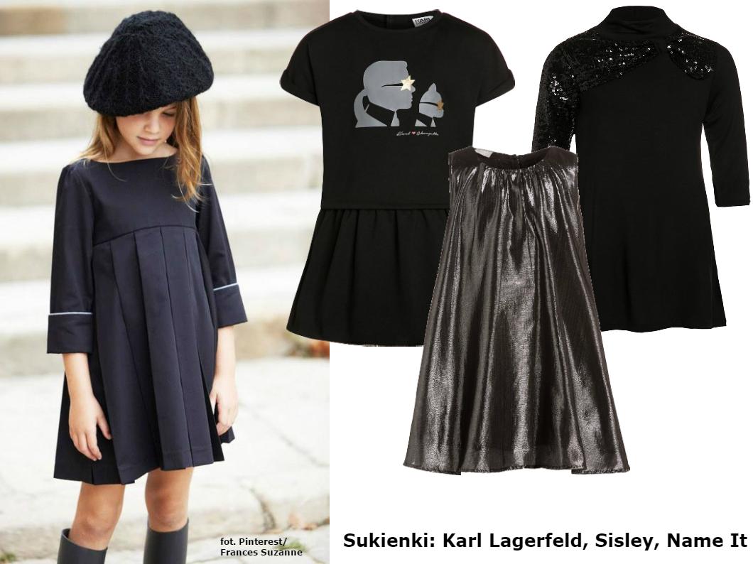 czarna sukienka na bal szóstoklasisty