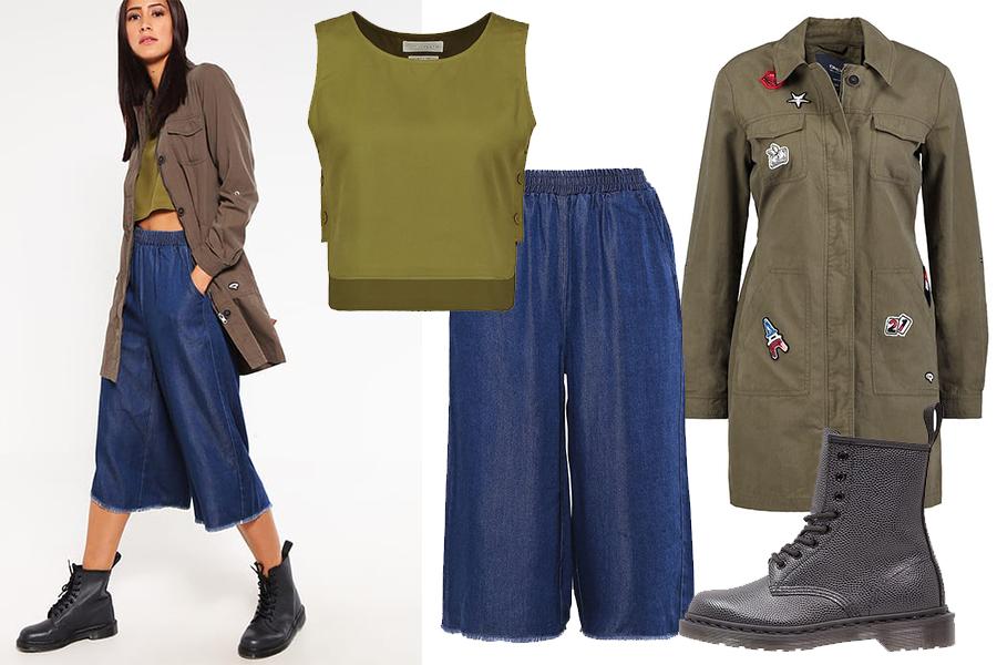 Modne spodnie wiosna 2017 stylizacja (fot. zalando)