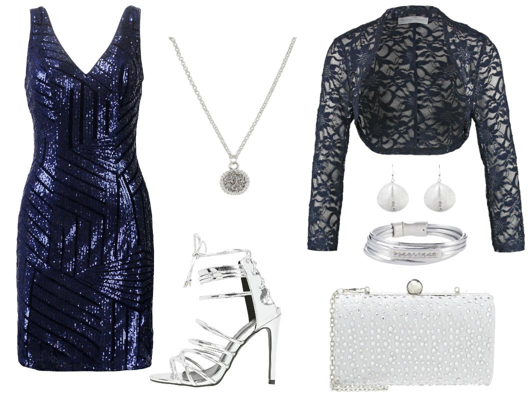 sylwestrowe stylizacje cekinowa sukienka