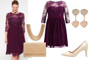 Sukienki na wesele duże rozmiary: stylizacja (fot. zalando)