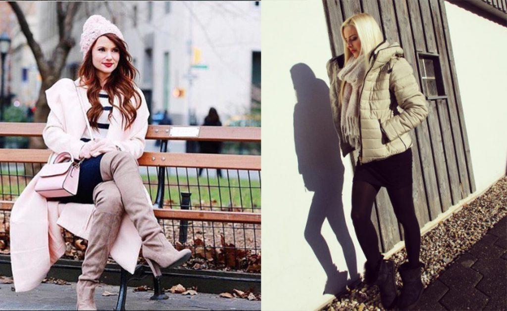 Instagram stylizacje na zimę (fot. www.instagram.com/kissmedarlingxo/ oraz www.instagram.com/cinderelly___/ )