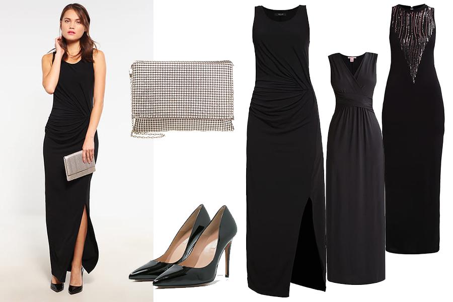 Stylizacje na studniówkę: czarna suknia (fot. zalando)