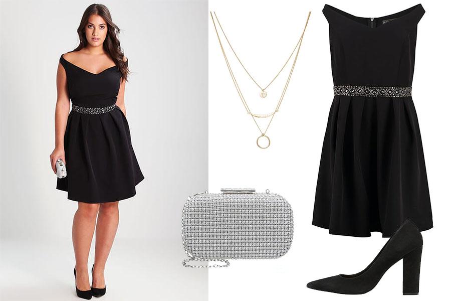 Fasony sukienek dla puszystych: stylizacja 2 (fot. zalando.pl)