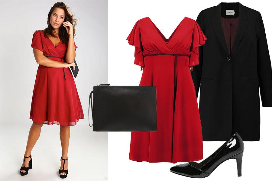 Fasony sukienek dla puszystych: stylizacja 1 (fot. zalando.pl)