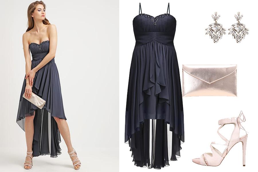 Sukienki z falbanami - przykładowa stylizacja na specjalne okazje (fot. zalando)