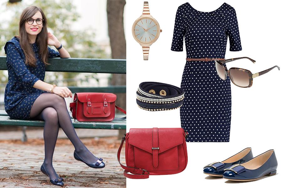Baleriny do sukienki na co dzień (stylizacja glamradar.com, zdjęcia materiały partnera)