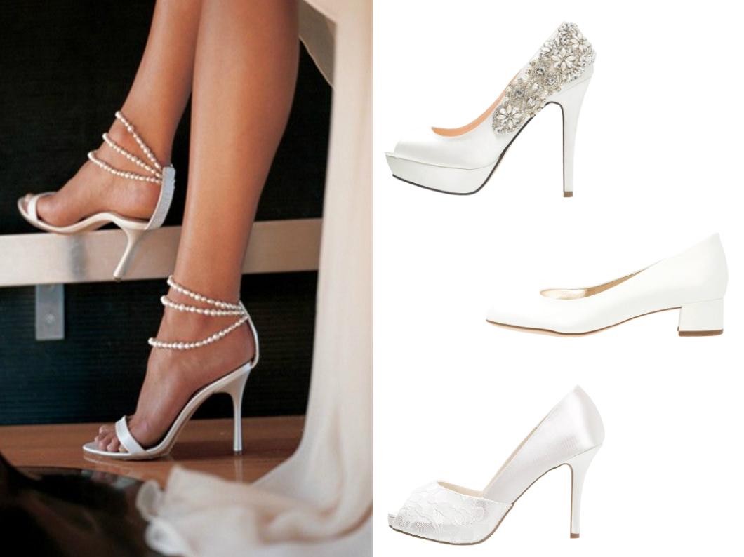 białe buty na ślub