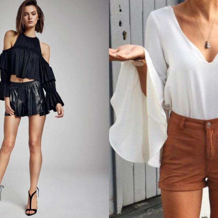 Modne bluzki - zoom na detale (zdj. LaMania, shopstyle.com)