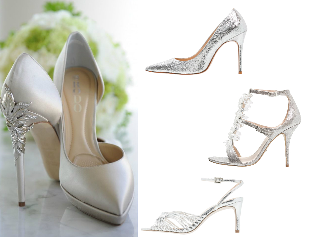 srebrne buty na ślub
