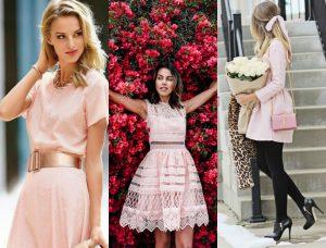 sukienka pudrowy róż jakie buty i dodatki