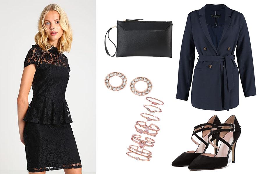 Baskinka - stylizacja z sukienką (kolaż redakcja, fot. zalando)