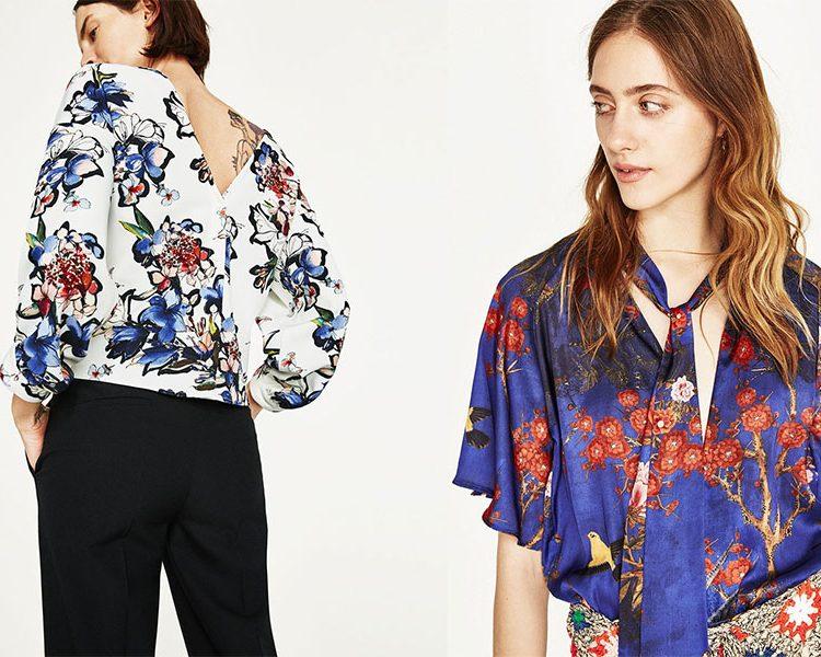 Eleganckie bluzki damskie w kwiaty (fot. ZARA)