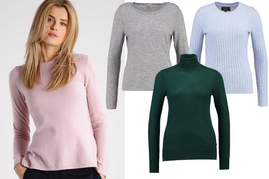 bluzki wizytowe sweter kaszmirowy