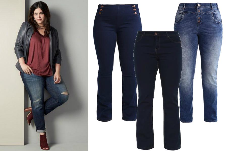 spodnie dla puszystych jeansy