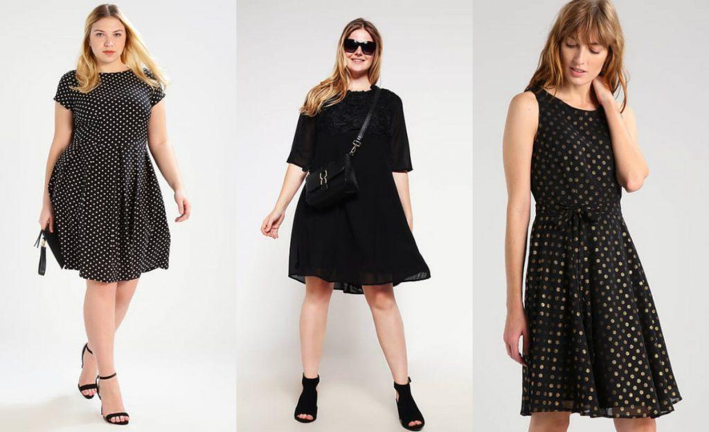 Czarna sukienka rozkloszowana (fot. zalando.pl)