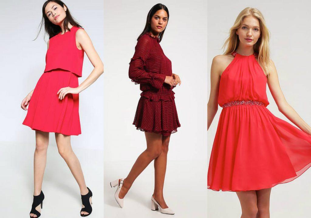Czerwona rozkloszowana sukienka (fot. zalando.pl)