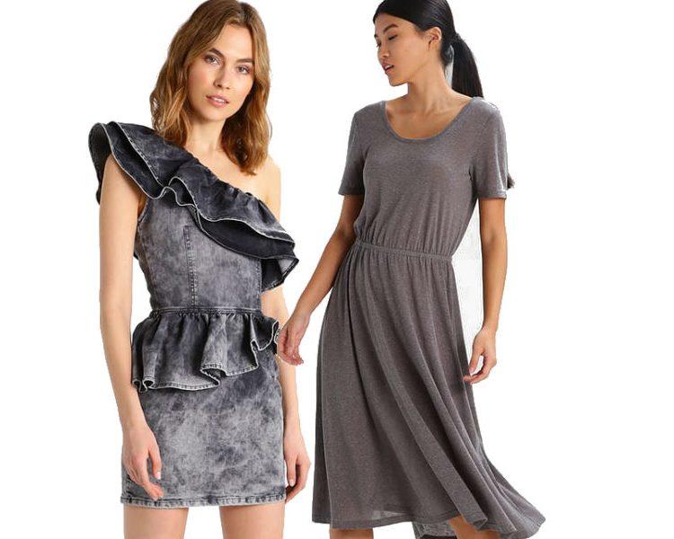 fot. jakie dodatki do szarej sukienki/ materiały partnera, kolaż Modatu