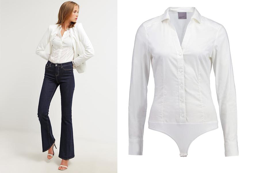 Jak nosić body? Koszula typu body Vero Moda VMLADY(fot. zalando.pl)
