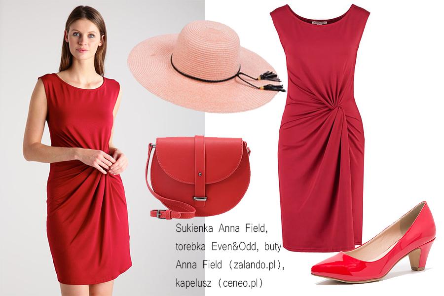 Czerwona sukienka stylizacje do 300 zł (kolaż redakcja, materiały zalando, ceneo)