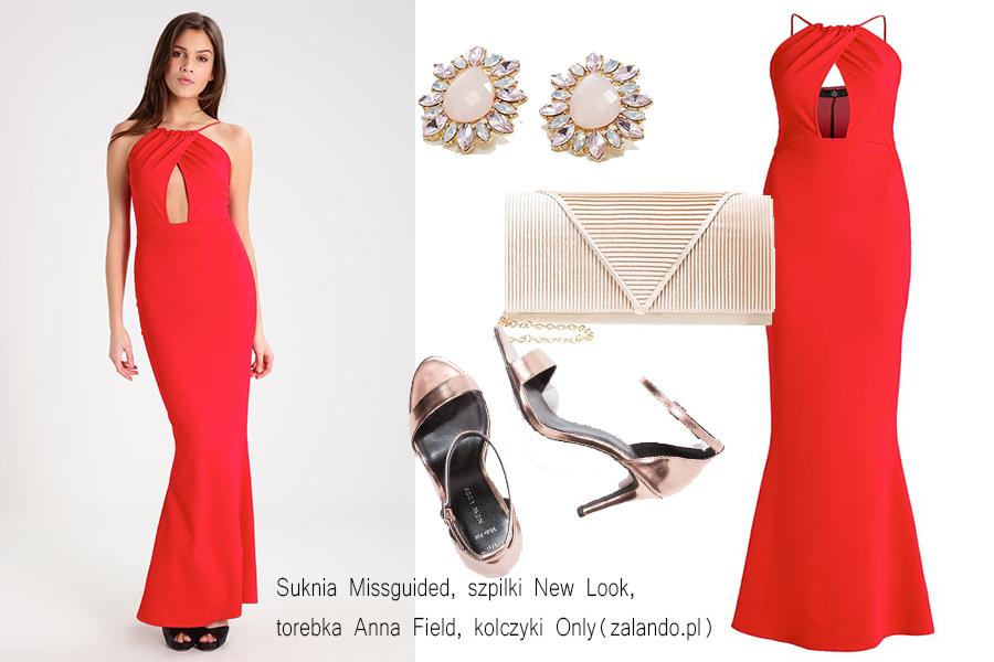Czerwona sukienka stylizacje do 500 zł (kolaż redakcja, materiały zalando)