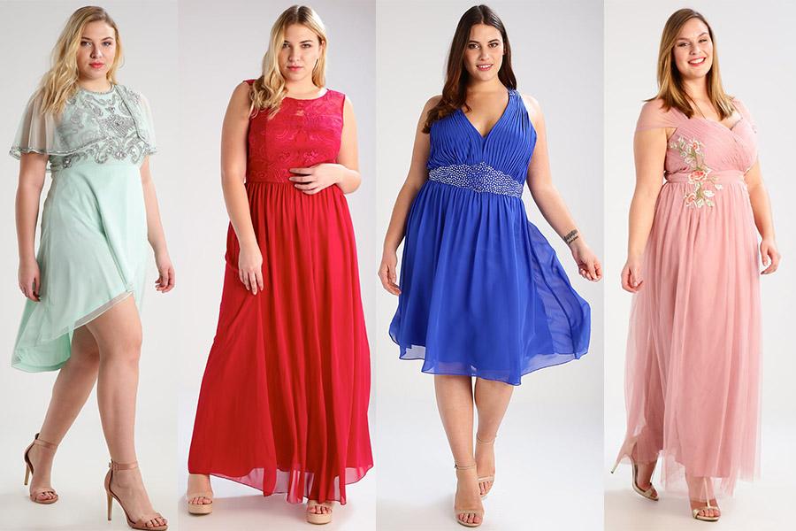 Modne sukienki na wesele XXL (fot. zalando.pl)