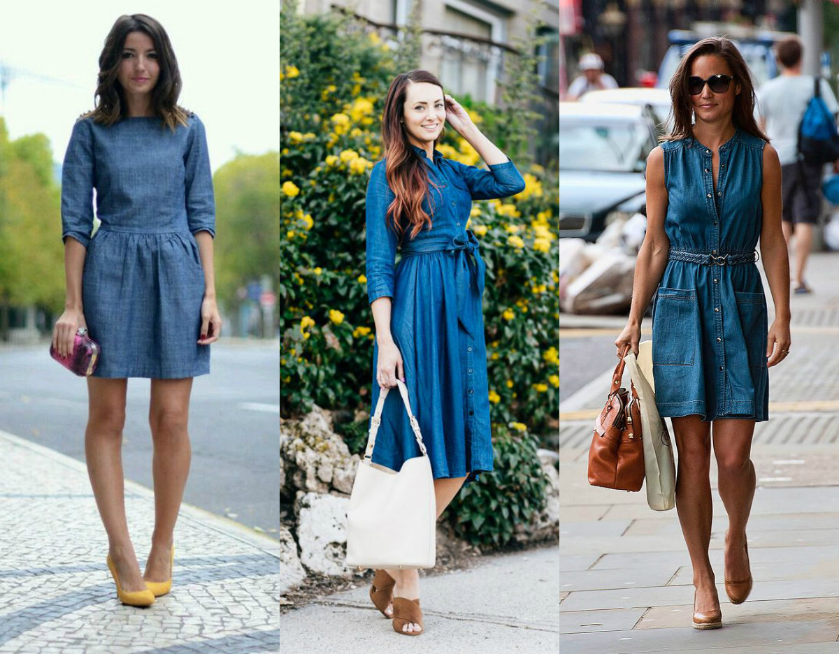 Elegancka sukienka jeansowa