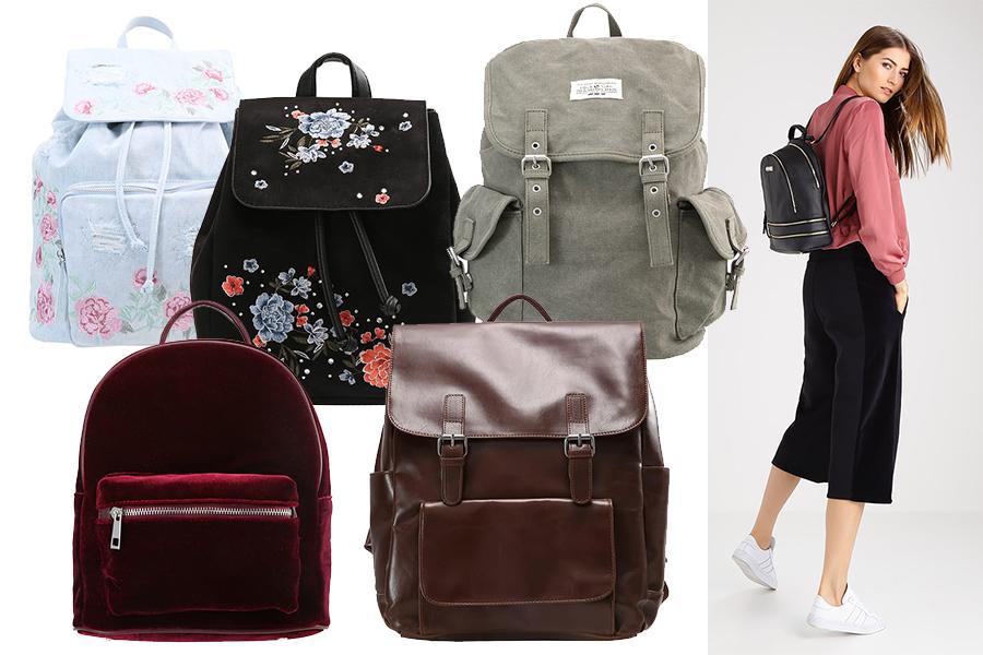 Plecak vintage - różne modele z oferty Zalando (kolaż redakcja, materiał partnera)