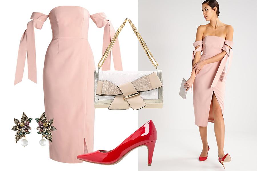 Dodatki do pudrowej sukienki na specjalną okazję (kolaż redakcja, materiały partnera)