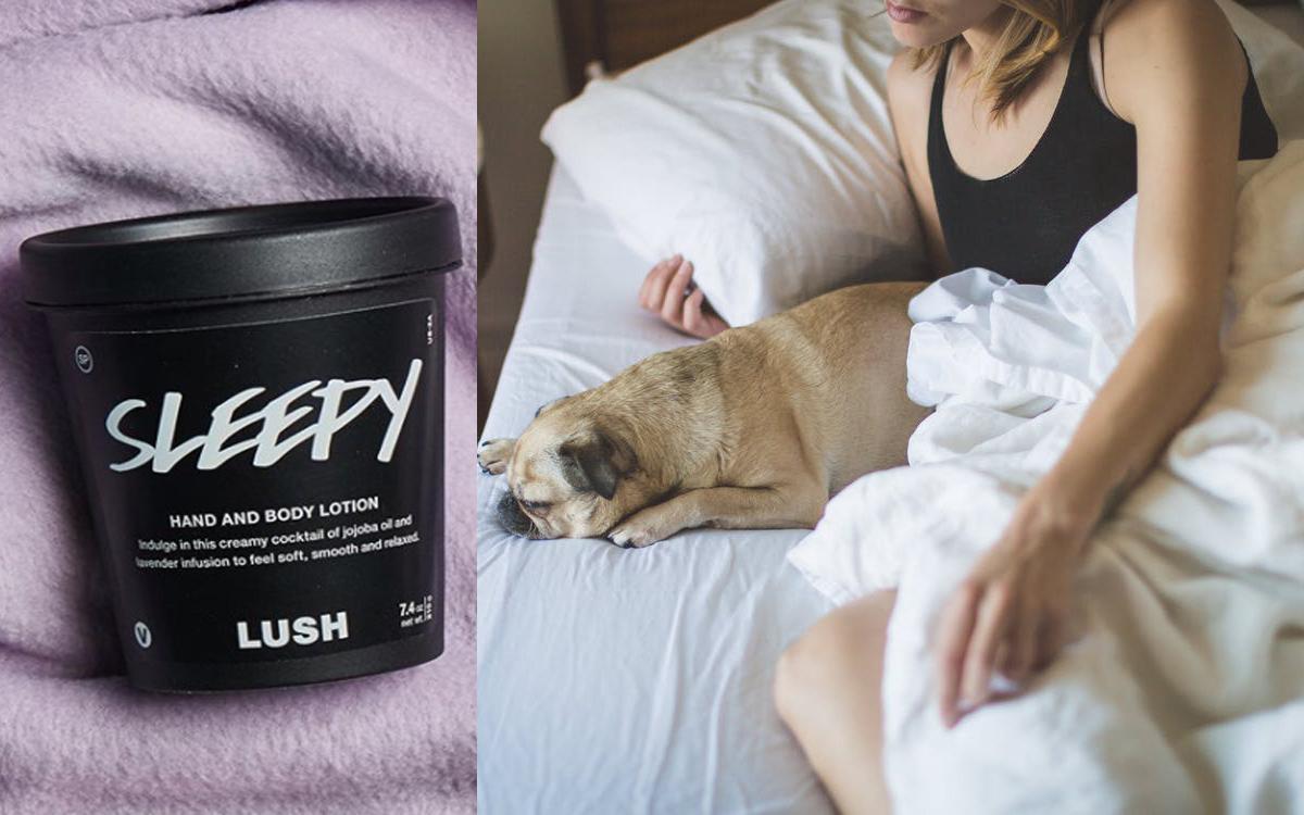 Kosmetyk dla niewyspanych Sleep Lush (kolaż redakcja, fot. Lushcosmetics, pexels.com)