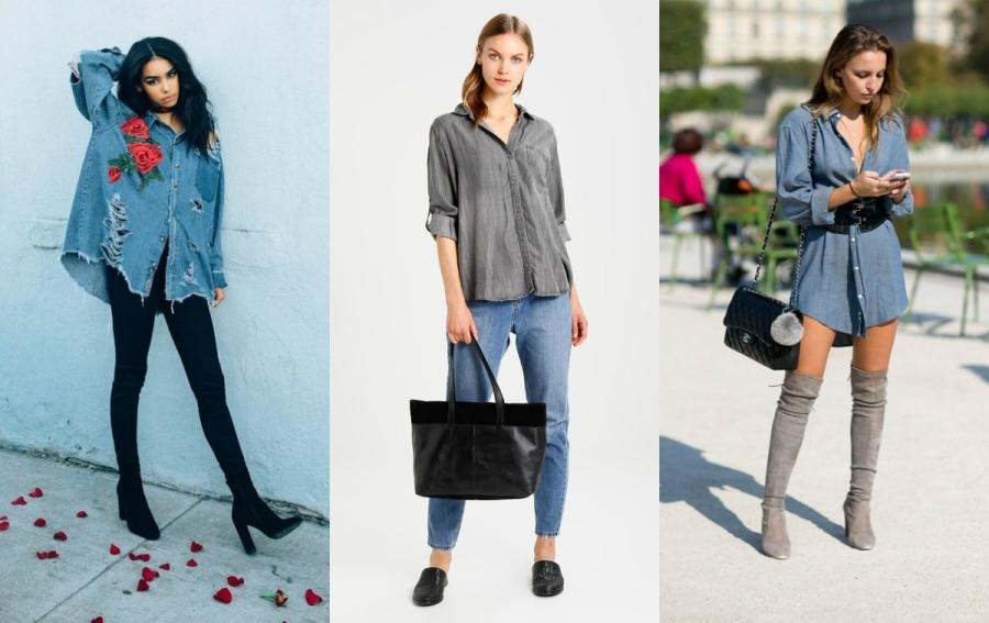 koszula oversize jeansowa