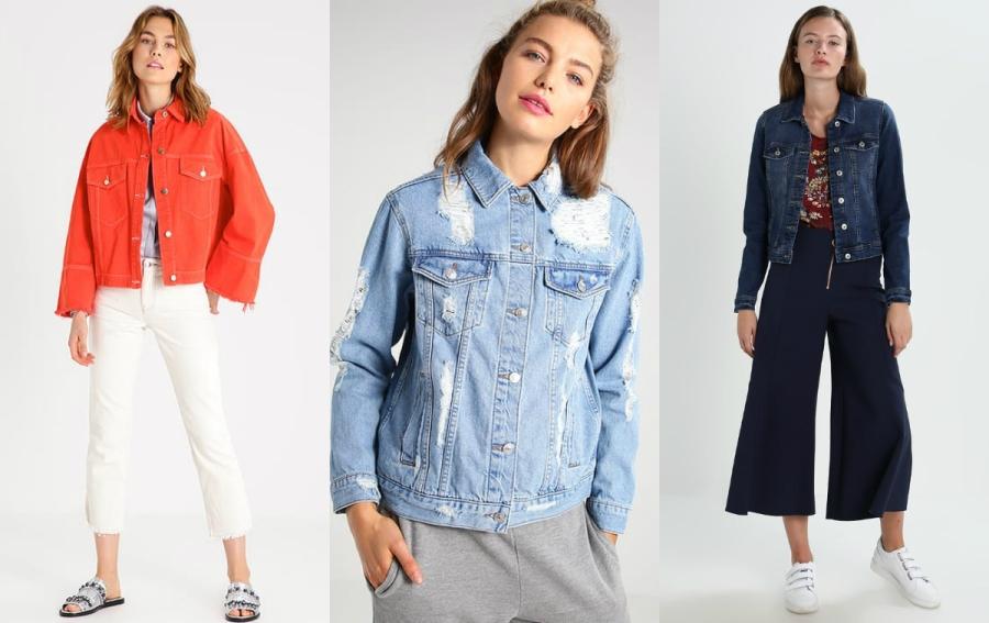 kurtki jeansowe damskie