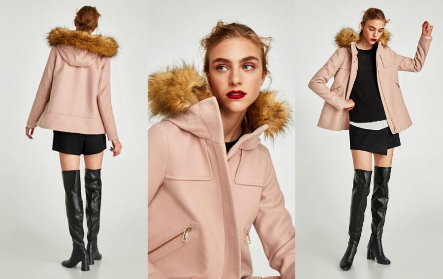 modny płaszcz zara