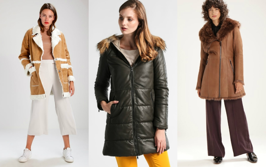płaszcz skórzany zimowy