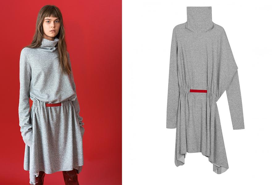 Asymetryczna sukienka od Hersow (fot. showroom.pl)
