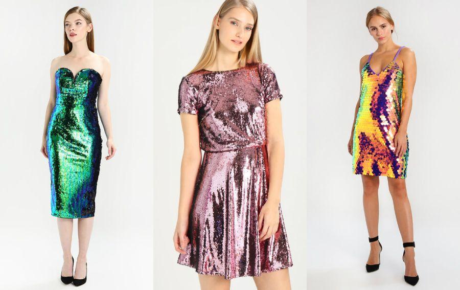 cekinowa sukienka kolorowa