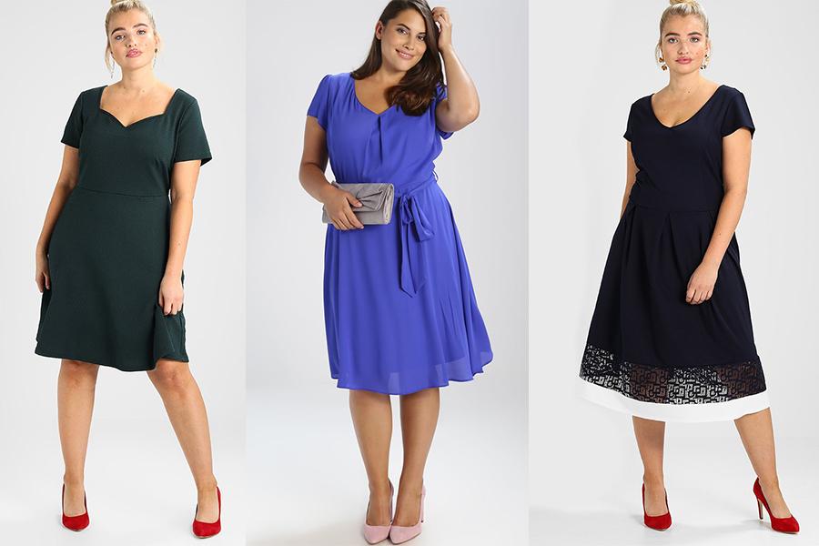 Sposób na szczupłe łydki i ładne uda - odpowiednia sukienka i buty (kolaż redakcja, materiały zalando)