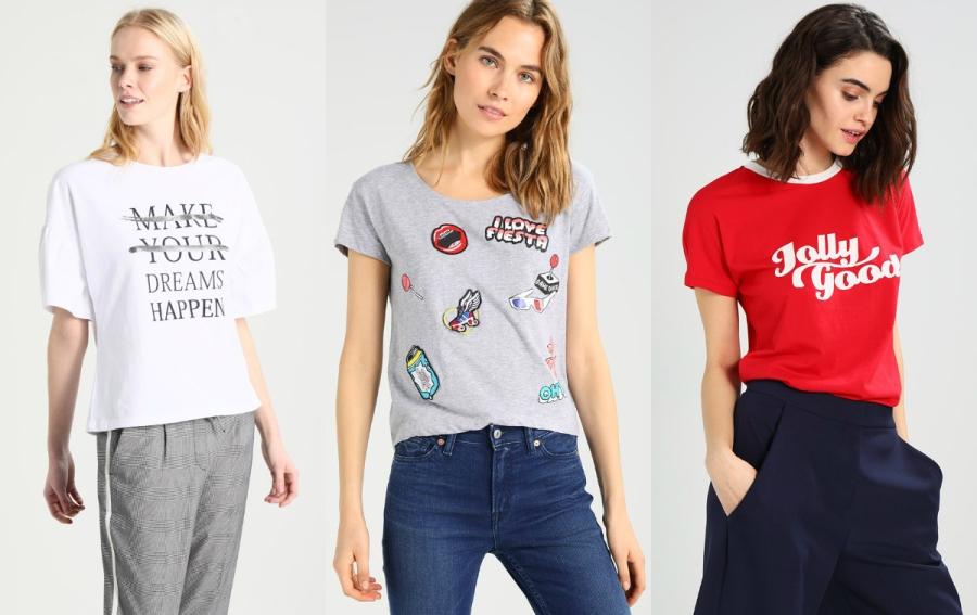 Koszulki napisami damskie
