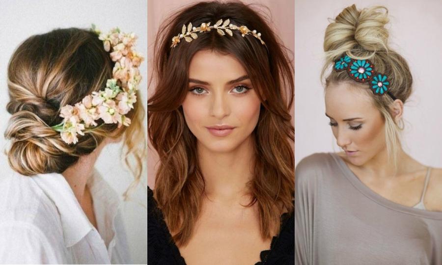 opaska na włosy kwiaty