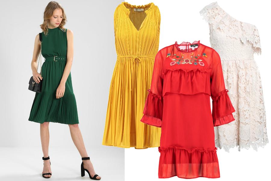 wiosenne sukienki 2018 różne