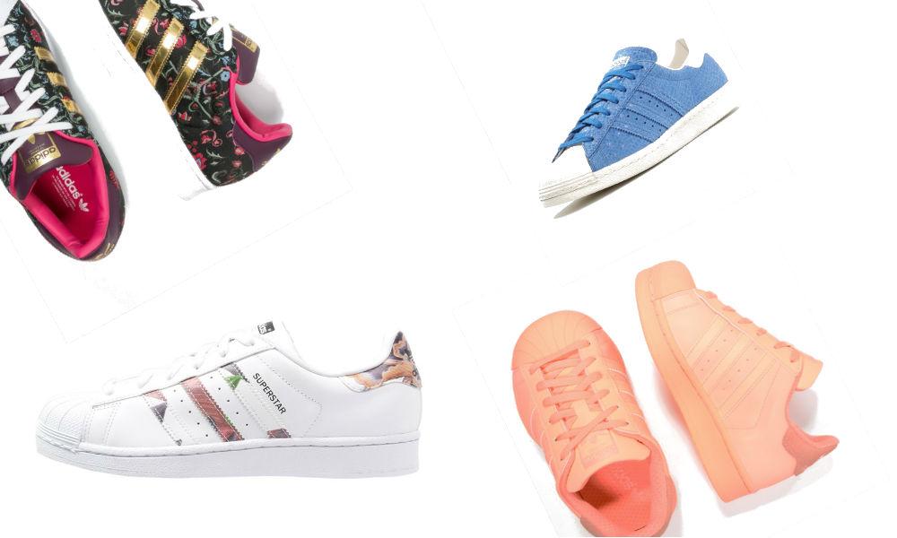 Kolorowe sneakersy Adidas Superstar